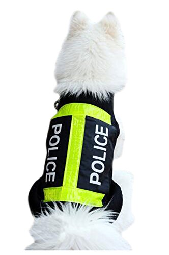 Crasy Shop OUUD High Visibilty Dog Safety Vest Reflective Jacket Fluorescent Yellow for Walking, Jogging, Training (2XL)
