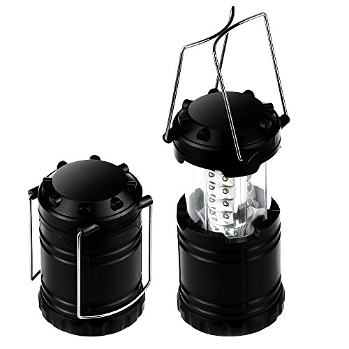 Begana Portable Camping Lantern Flashlights with 30 LED Bulbs - Retractable & Lightweight & Water Resistant Camping