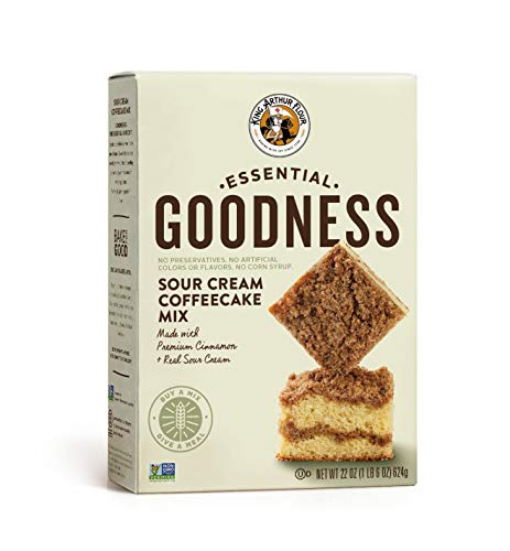 King Arthur Flour Essential Goodness Mix, Sour Cream Coffeecake, 22 Ounce (Pack of 6)