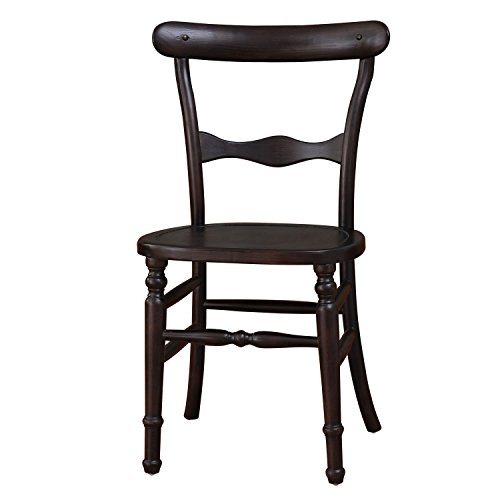 Joveco Vintage Style Curved Back Wood Chair with Decorative Slats - Set of 2 - 2 Cane Back Chairs