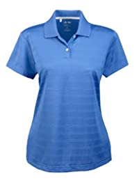 A162 Adidas Ladies' ClimaLite Textured Solid Polo
