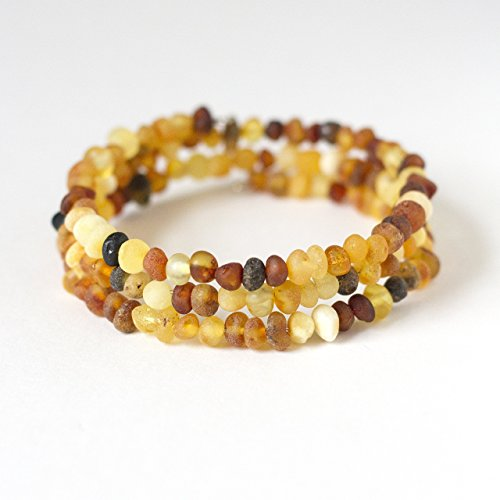 lemonade color Hippie Hoopla Raw Baltic Amber 12 Necklace for Teething Infants and Toddlers
