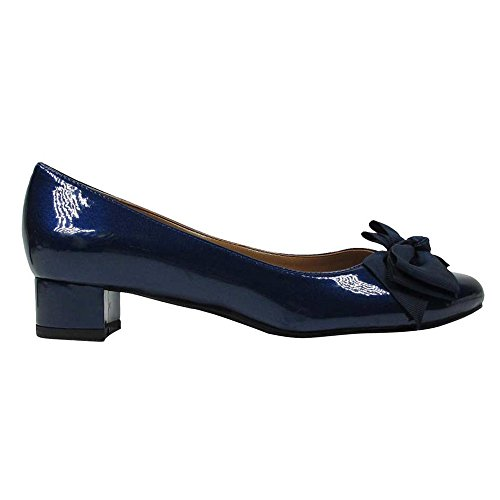 Pumps Classic Renee J synthetic Womens Navy Closed Cameo Toe xXYg1wqzg