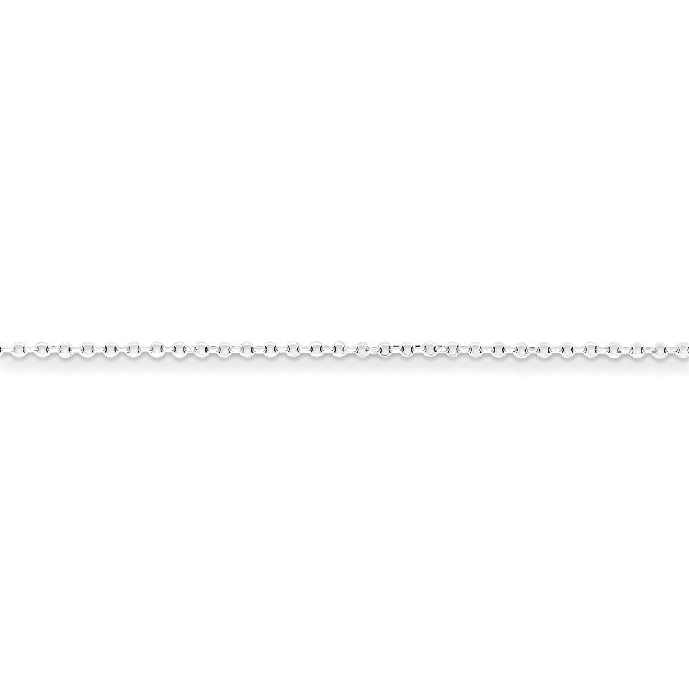 Sterling Silver 1.5mm 8 Side Diamond Cut Cable Chain