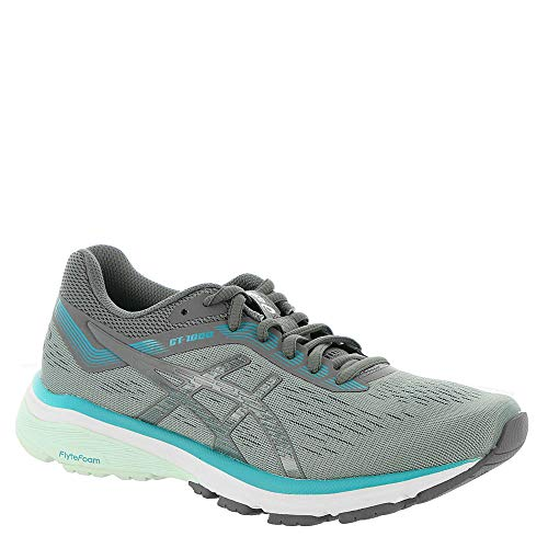 ASICS Women's GT-1000 7 Running Shoe, Stone Grey/Carbon,9 M US