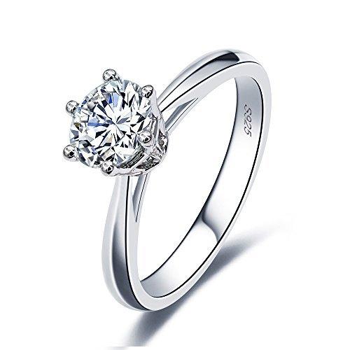VAN RORSI&MO 2.0 Ct Moissanite Ring Diameter 8.0mm H-I Colorless Sterling Silver Engagement Rings