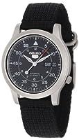 """Seiko Men's SNK809 """"Seiko 5"""" Automatic Watch with Black Canvas Strap from Seiko"""