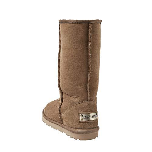 Castaña Con Botas Antideslizantes Para Estilo Zapatos Lana Nieve Mujer De Caña Shenduo Clásico Interno Piel Dv5815 Alta Invierno qRwTCE8