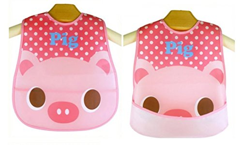 [Baby Bibs Pig Cartoon Waterproof Lunch Infants Cartoon Pattern Bibs Burp Cloths For Children Self Feeding] (Infant Red Minnie My First Disney Costumes)