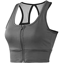 Regna X Sports Bras for Women High Impact Support Bra Top for Large Busts Gray L