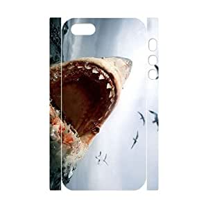 ANCASE Cell phone Protection Cover 3D Case Deep Sea Shark For Iphone 5,5S