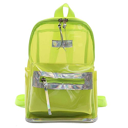 Backpack Transparent Safe Outdoor Pvc Work Bag School Studentgreen Travel ZXPkui