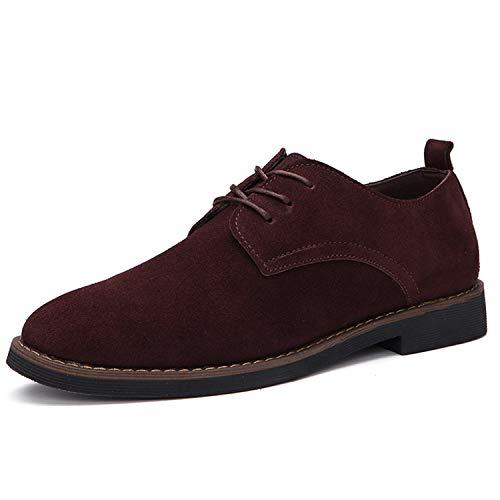 Casual Leather Shoes Oxfords Men's Flats Spring Autumn Classic Shoes Brown Men Shoes 8