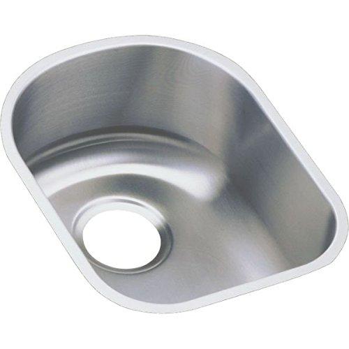 Lustertone Undermount Bar Sink (Elkay ELUH1317 Harmony Lustertone 14-Inch by 17-1/2-Inch Stainless Steel Undermount Bar Sink with Rim Reveal, Lustertone Satin)