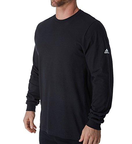 adidas Mens Long Sleeve Ultimate Climalite Tee, Black