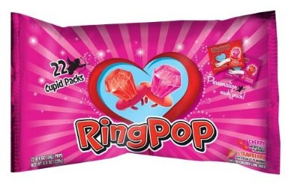 (Ring Pops Valentine's Day Bag - 22ct - 8.8)