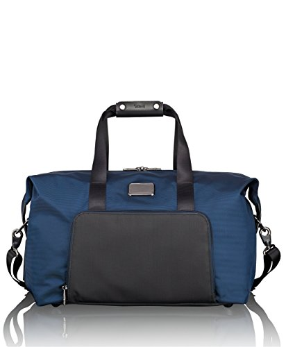 Tumi Alpha 2 Double Expansion Travel Satchel Duffel Bag, Navy/Black, One Size - Tumi Duffle Bag
