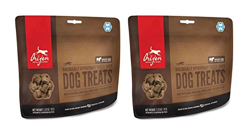 2 Pack ORIJEN Freeze Dried Angus Beef Dog Treat 3.25 ounce ea.