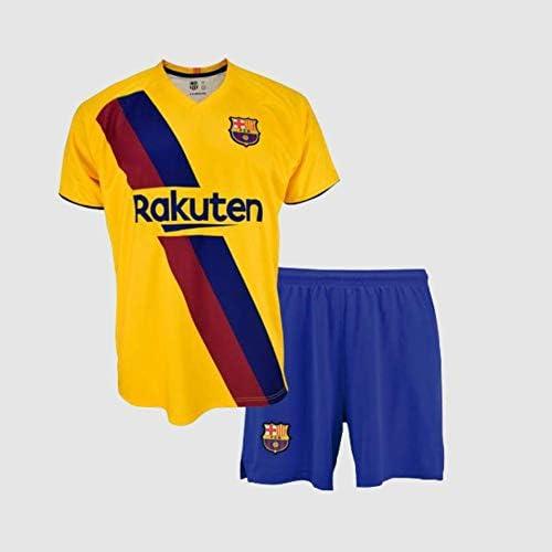 Completo maglia e pantaloni, seconda attrezzatura FC. Barcelona 2019-20 – Replica ufficiale con licenza – Dorsale 10 Messi – Bambino taglia 10