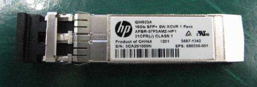 HP 680536-001 16Gb transceiver - Short Wave (SW), Enhanced Small-form Pluggable (SFP+) by HP