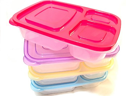 bento-lunch-box-3-compartment-food-storage-containers-healthy-choice-dbnh-lunchbox-set-of-4-classic