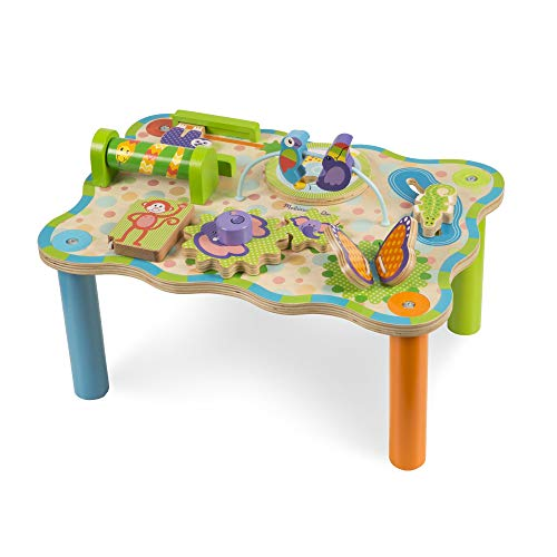 Melissa & Doug First Play Jungle Wooden Activity Table (Sturdy WoodenBaby Toy, Great Gift for Girls and Boys - Best for Babies and Toddlers, 12 Month Olds, 1 and 2 Year Olds)