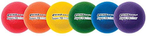 Champion Sports 2.75 Inch Rhino Skin High Bounce Super 70 Dodgeball Set
