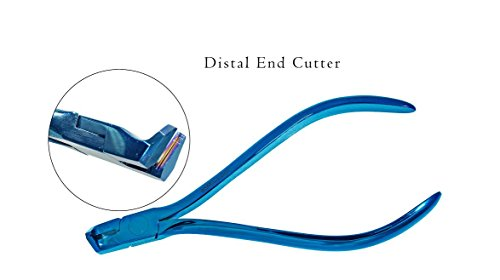 Titanium Blue German T.C Long Handle Distal End Cutter With Safety Hold,Cut & Hold Hard and Soft Wire Orthodontic - T Hu