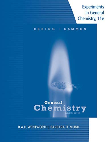 Lab Manual Experiments in General Chemistry
