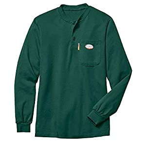 Rasco FR Men's Green Henley T-Shirt