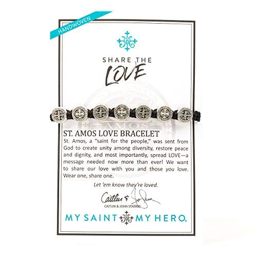 My Saint My Hero Share the Love - St. Amos Bracelet - Black/Silver by My Saint My Hero (Image #1)