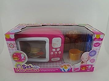 Microondas infantil eléctrico con accesorios luz y sonido ...