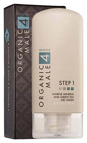 (Organic Male OM4 Sensitive Step 1 - Marine Mineral and Green Tea Gel Wash (5.0oz) Organic Face Cleanser for all skin types)