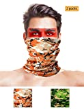 LOOGU 12-in-1 Headband Hunting Blind Tree Camo Multifunctional Seamless Bandanas Headwear (Bird 2-1, 9.5 x 19 Inches / 24 x 49 cm)