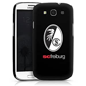 Carcasa Design Funda para Samsung Galaxy S3 i9300 / LTE i9305 HardCase black - SC Freiburg Wappen schwarz