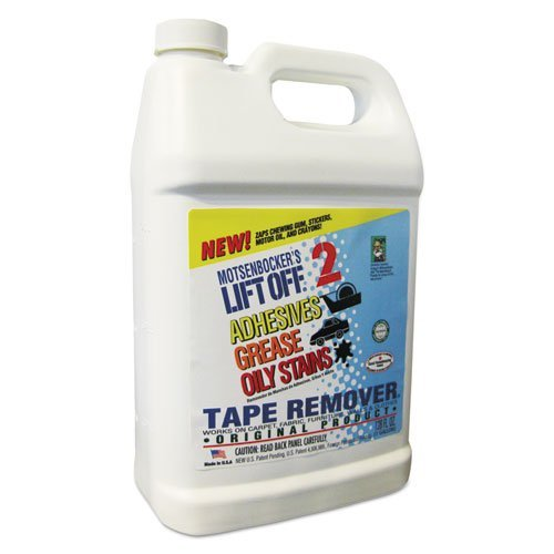 MOTSENBOCKER LIFT-OFF 40801 Tape, Label, and Adhesive Remover 1-Gallon Bottle-Pack of 1, 128. Fluid_Ounces