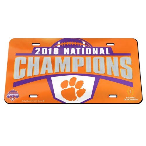 otball Champions Clemson University College Football Playof 58587119 Crystal Mirror License Plate ()