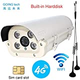 Going tech WiFi wireless 4G 3G sim card cctv Security camera IR Night Vision with 240G Solid state driver recording