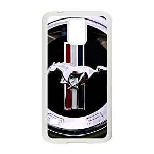 Samsung Galaxy S5 Cell Phone Case White_Mustang_001 X7J1T