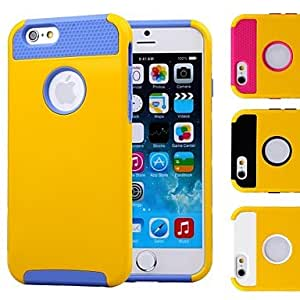 Zaki Double Shells Design Yellow Back Hard Case with TPU Inside for iPhone6 (Assorted Colors) , Golden