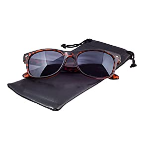 Epic Brand New Wayfarer Sunglasses Collection for Men and Women | Classic 80's Retro Vintage Fashion Timeless Style (Tortoise, Black)