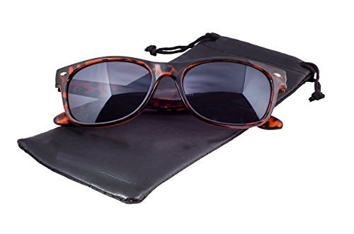 Epic Brand New Wayfarer Sunglasses Collection for Men and Women | Classic 80's Retro Vintage Fashion Timeless Style (Tortoise, Black) (Classics Collection Sunglasses)