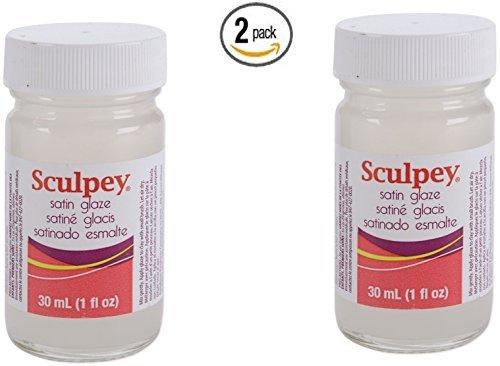 Polyform Sculpey Glaze, 1-Ounce, Satin (2)