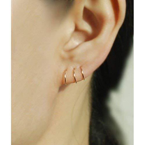 Tiny Nose Hoop Septum Ring 14k Gold Helix Tragus
