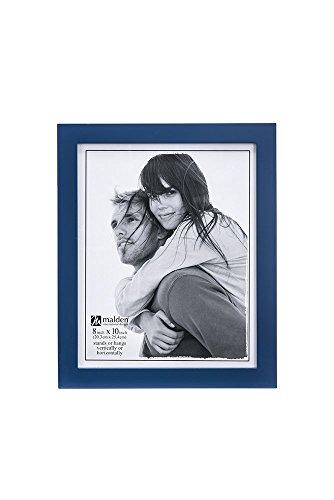 Malden International Designs Linear Classic Wood Picture Frame, 8x10, Blue