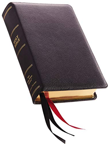 NKJV, Single-Column Reference Bible, Premium Goatskin Leather, Black, Premier Collection, Comfort Print: Holy Bible, New King James Version