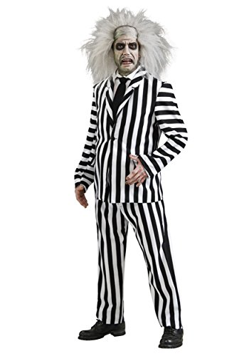 Rubies Costume Co. Inc mens Deluxe Plus Size Beetlejuice Costume 2X-Large (Beetlejuice Plus Size Adult Mens Costume)