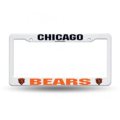Rico Industries NFL Plastic License Plate Frame, Chicago Bears -