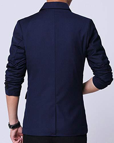 Casual Jacket De Fit Slim Elegant Marin Costume Bouton Homme Un Veste Blazer ESxFqgq