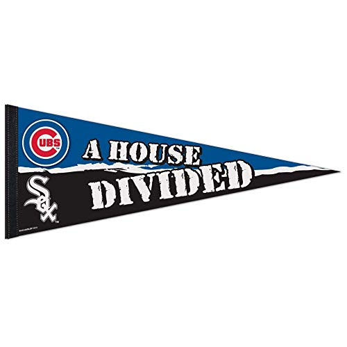 Bek Brands Major League Baseball Teams Flag Banner Pennant, 12 x 30 in, Soft and Durable (Chicago Cubs/White Sox) Chicago White Sox Wall Pennant